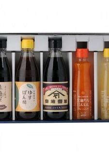 味将軍・ゆずぽん酢・こいくち(貴揚) ×3本+にんじん・小夏ノンオイルドレッシング×2本